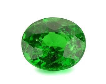 0.56ct Tsavorite Green Garnet Oval Shape Loose Gemstones (Watch Video) Free Shipping SKU 452A004