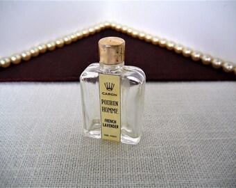 CARON POURUN HOMME French Lavender Vintage Mini Perfume Bottle Collectible Miniature Perfume Bottle