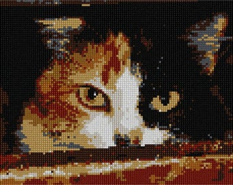 Needlepoint Kit or Canvas: Menacing Cat