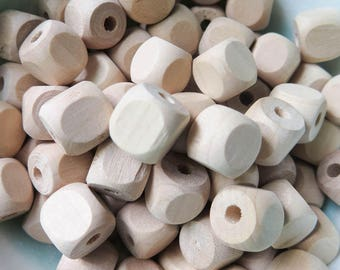 """1/2"""" Square Beads with Rounded Corners 