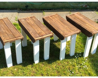 Handcrafted Reclaimed Solid Wood Benches Country Shabby Chic