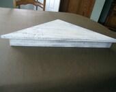 Barnwood  Whitewashed Shelf, Barnwood Corner Shelf, Barn Wood Shelf, Whitewashed Shelf, Shelf