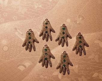 6 Silverplated Michael Jackson Glove Charms