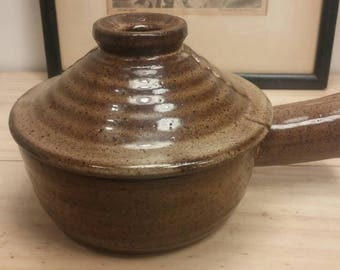 Vintage EARTHENWARE BEAN POT in Excellent Condition! Hand Made!