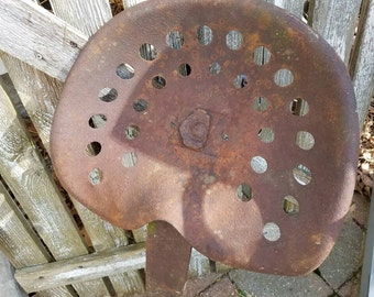 Vintage Rusty Tractor Seat with mount Farmhouse