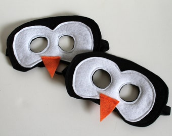 Felt Penguin Mask for Kids