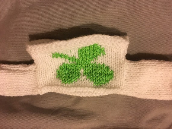 Knitting Pattern For Jumper For Pg Tips Monkey : Hand Knitted Shamrock Sweater Fits PG Tips Small Monkey