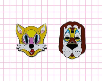 50% off Breakfast at Tiffany's inspired Mask pins Holly Golightly Paul Varjak Audrey Hepburn Cat Dog Classic movie Couple pin