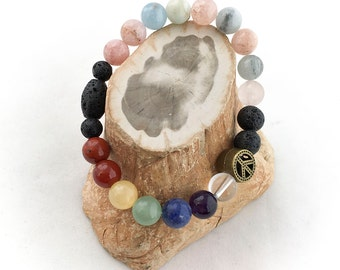 Morganite Chakra Essential Oils Diffuser Energy Bracelet