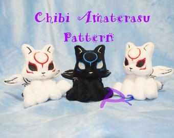 Pattern for Chibi Amaterasu Plush -In The Hoop Pattern and Printable Pattern-