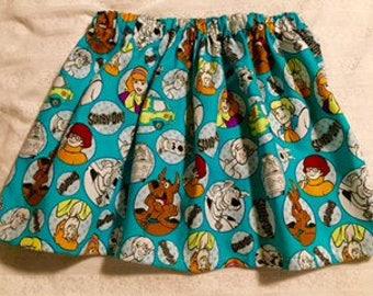 Scooby Doo Skirt- Scooby Doo Birthday- Scooby Doo Dress-Scooby Doo Clothing- Twirl Skirt