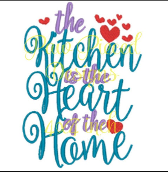 Kitchen Heart Of Home Embroidery Design From Weyrdkat On