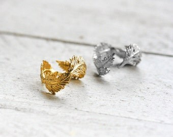 FEATHER ring with spring | gold