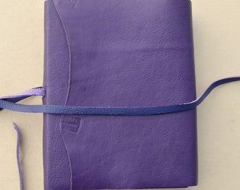 Purple Leather Journal Handmade Lined Diary Bound Custom Notebook Ledger (623B)