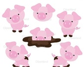 ON SALE INSTANT Download Cute pigs. Personal and commercial use.