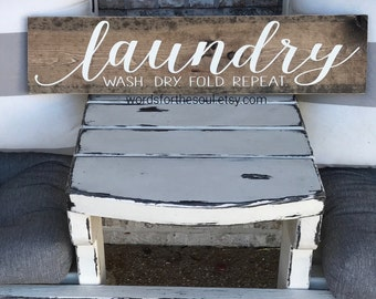 Laundry Sign | Wall Art | wooden Sign | Rustic Sign | Wood Sign |  Farm house Sign | laundry room | wall Decor | home decor
