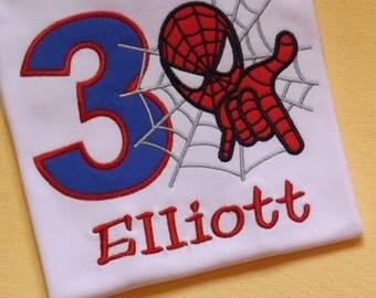 Spiderman Birthday T-Shirt or Bodysuit