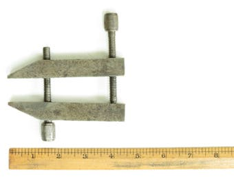 "Vintage 4 1/2"" Machinist Clamp - Vintage Wm Steele Clamp - Vintage Machinist Parallel Clamp - Steel Screw Clamp - Industrial Decor"