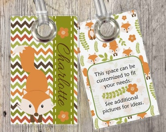 Woodland Creatures - Custom Tags for Backpacks, Luggage, Diaper Bags & More!