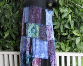 Boho Women's Clothing - Plus Size - Tunic Dress - Upcycled Gypsy - Repurposed - Cotton - Patchwork - Vegan Friendly - Summer Festival Attire