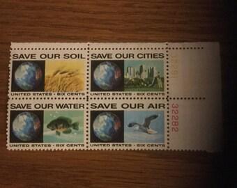 Vintage 6 cent postage stamps