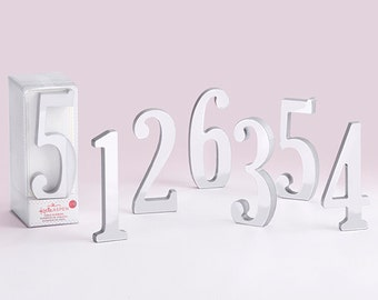Silver Table Number Mirror Table Numbers Classic Silver Table Number Elegant Reusable Silver Standing Table Numbers 1-18