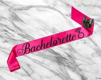 Bachelorette Sash, Bridal Shower Sash, Bride To Be Sash Bachelorette, Bride Sash, Custom Glitter Satin Sash