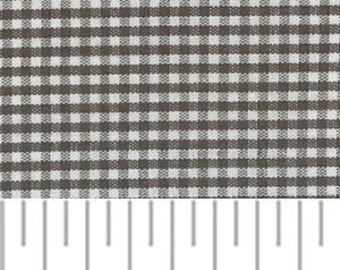High Quality Fabric Finders Chocolate Brown Gingham