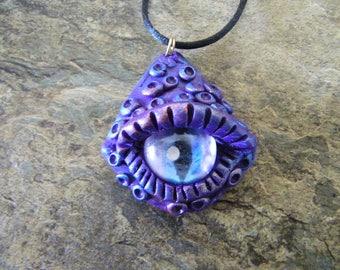 Dragon eye necklace, dragon talisman, dragon pendant