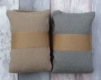 Wheat Bag - Microwavable - 800g - Removable Linen Cover - Cold / Heat Therapy