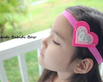 Valentine's day headband-Hot pink heart- Baby girl headband-Gift-Girl headband -Hair accessory -Toddler headband- Babyshower