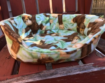 Large Blue Monkey Guinea Pig Bed