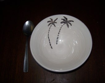 palm tree bowl