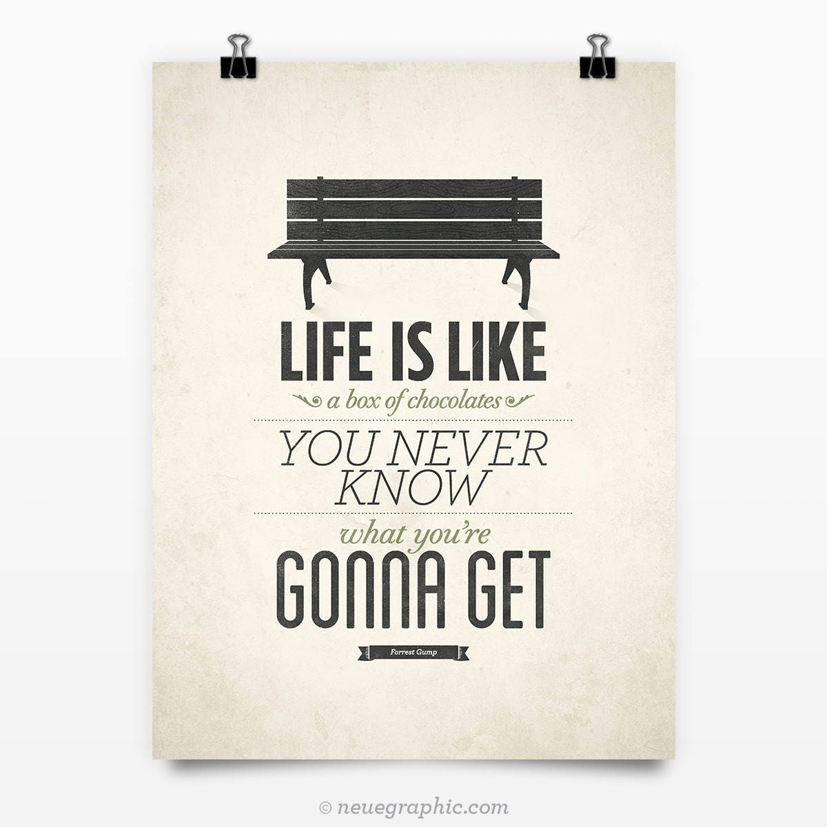 life is like a box of chocolates 'life is like a box of chocolates – you never know what you're going to get' in the face of this 'life is random' attitude, the wisdom of the world says 'grab what you can, now' the focus becomes self-centred, self-absorbed.