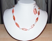 Salmon Shell Necklace Set, Women's Necklace, Tan Shell Necklace