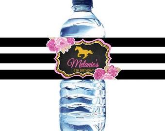 Horse water bottle label, Horsing water bottle label, Horse back riding water label, horse printable water labels, horse water label, horse