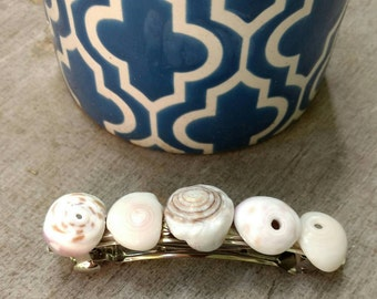 Hawaiian Puka Shell Barrette