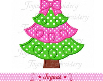 Instant Download Christmas Tree Applique Machine Embroidery Design NO:2231