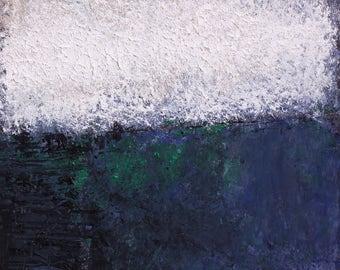 "Original Abstract Oil Painting, ""Morning Dew"" , 12""x9"", by artist John Kelley"