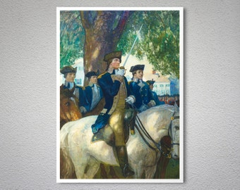 Beginning of the American Union, 1775 by N.C. Wyeth - Poster Paper, Sticker or Canvas Print