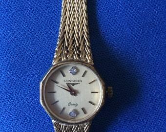 Longines Ladies Watch, Quartz, Diamonds, 1980s, [Drw]