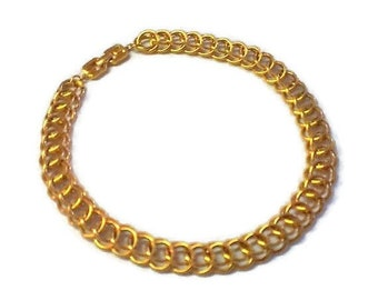 Vintage Givenchy Gold Tone Chain Link Necklace