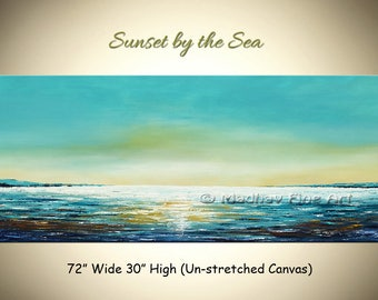 Beach Painting, Large Seascape painting, Abstract painting, Large Abstract art, Ocean painting, Seascape art on canvas, Large coastal art