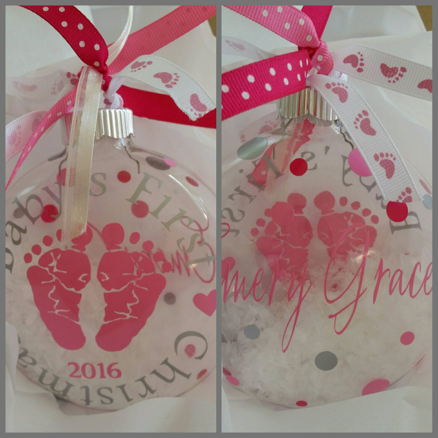 Big Brother Christmas Ornament Part - 37: Babyu0027s First Christmas; Ornament, Glass Ornament, Babyu0027s Christmas Ornament,  1st Big Brother Ornament, Baby Feet, Personalized, Big Sister