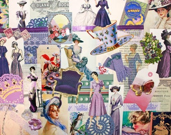Purple Reign*Purple Inspiration Kit*Purple Woman's Fashion Paper Pack*Mother's Day Paper Crafts