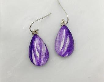 Dioxazine Purple - Watercolor Earrings