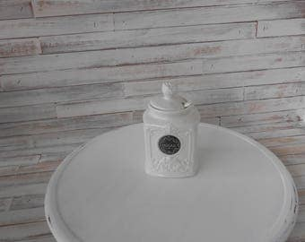 14 Inch White Distressed Lazy Susan -Farmhouse and Cottage Chic Lazy Susan - Distressed White - French Country-Lazy Susan Server- Lazy Susan