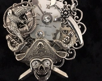 Steam Punk/Victorian/Syfy Pendant Hand Made in USA silver metal