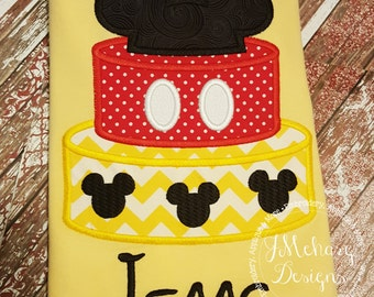 Mickey Cake Birthday Custom Tee Shirt - Customizable -  Infant to Youth 50