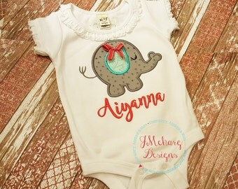 Elephant Girl Baby gift - Customizable -  Infant